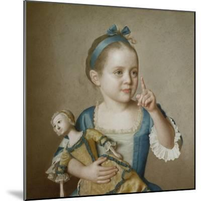 Girl with Doll-Jean-Etienne Liotard-Mounted Giclee Print