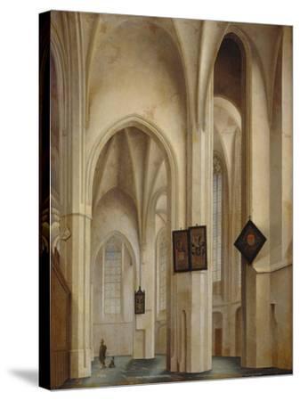 Innenansicht Der St.Jakobs-Kirche in Utrecht, 1642-Pieter Jansz Saenredam-Stretched Canvas Print