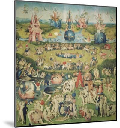 The Garden of Earthly Delights. Central Panel of Triptych-Hieronymus Bosch-Mounted Giclee Print