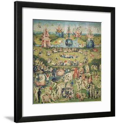 The Garden of Earthly Delights. Central Panel of Triptych-Hieronymus Bosch-Framed Giclee Print