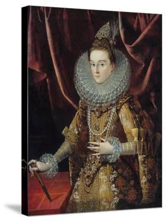 Portrait of Infanta Isabella Clara Eugenia of Spain-Juan Pantoja De La Cruz-Stretched Canvas Print