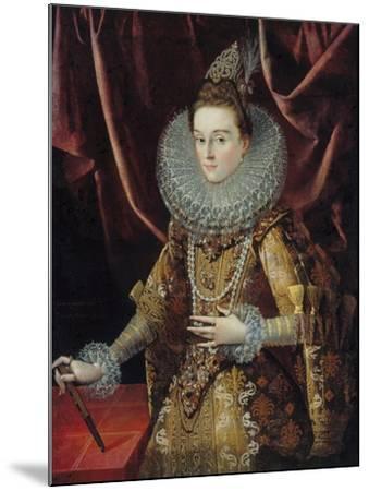 Portrait of Infanta Isabella Clara Eugenia of Spain-Juan Pantoja De La Cruz-Mounted Giclee Print