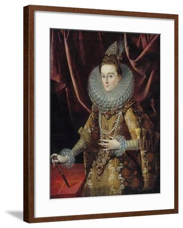 Portrait of Infanta Isabella Clara Eugenia of Spain-Juan Pantoja De La Cruz-Framed Giclee Print