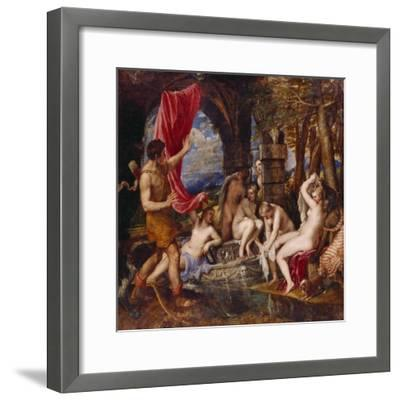 Diana and Aktaeon- Tizian Tiziano Vecellio-Framed Giclee Print