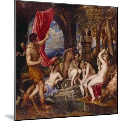 Diana and Aktaeon- Tizian Tiziano Vecellio-Mounted Giclee Print