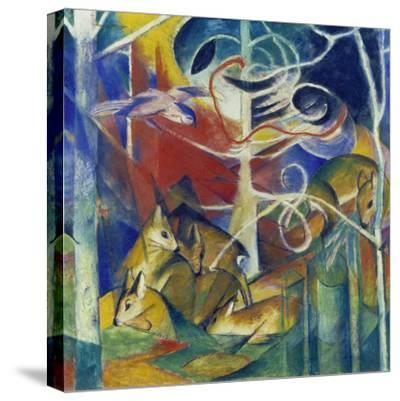 Deer in the Forest I, 1913-Franz Marc-Stretched Canvas Print