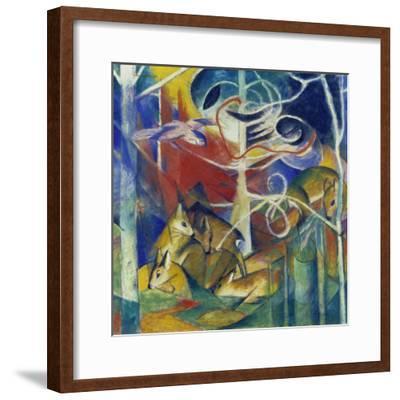 Deer in the Forest I, 1913-Franz Marc-Framed Giclee Print
