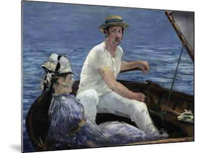 Boating, 1874-Edouard Manet-Mounted Giclee Print