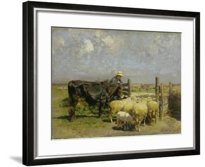 Im Schafspferch-Heinrich von Zügel-Framed Giclee Print