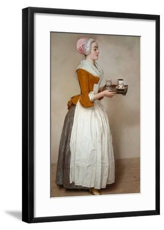 The Hot Chocolate Girl, about 1744/45-Jean-Etienne Liotard-Framed Giclee Print