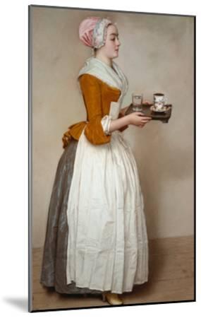 The Hot Chocolate Girl, about 1744/45-Jean-Etienne Liotard-Mounted Giclee Print