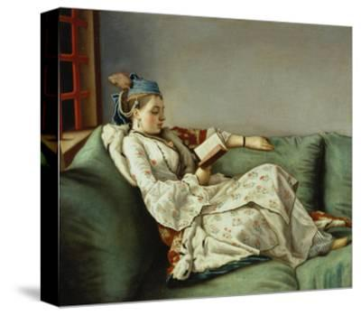 Maria Adelaide Reading-Jean-Etienne Liotard-Stretched Canvas Print