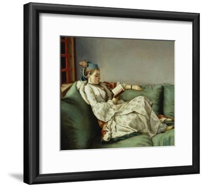 Maria Adelaide Reading-Jean-Etienne Liotard-Framed Giclee Print