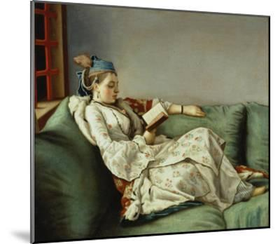 Maria Adelaide Reading-Jean-Etienne Liotard-Mounted Giclee Print