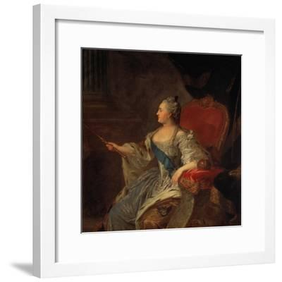 Bildnis Der Zarin Katharina Ii, 1763-Fjodor Rokotov-Framed Giclee Print