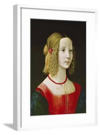 Portrait of a Young Girl. Probably About 1490-Domenico Ghirlandaio-Framed Giclee Print