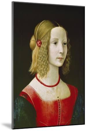 Portrait of a Young Girl. Probably About 1490-Domenico Ghirlandaio-Mounted Giclee Print