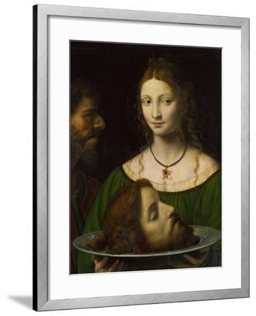 Salome with the Head of John the Baptist-Bernardino Luini-Framed Giclee Print