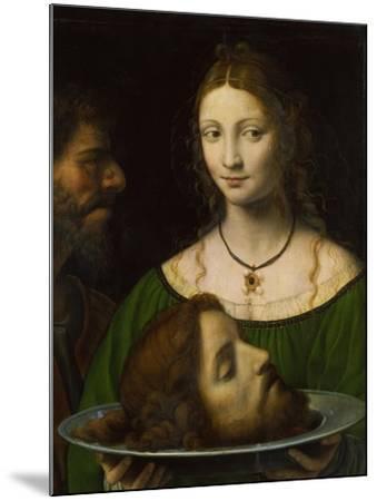Salome with the Head of John the Baptist-Bernardino Luini-Mounted Giclee Print