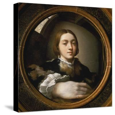 Self-Portrait in a Convex Mirror, 1523/24-Parmigianino-Stretched Canvas Print