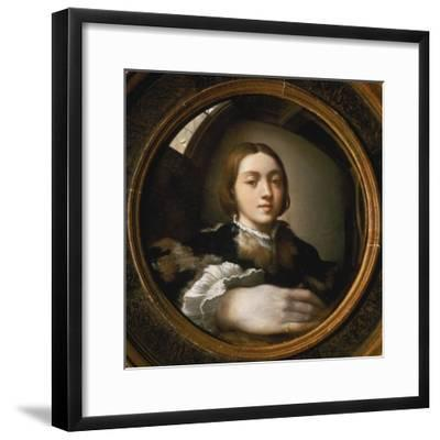 Self-Portrait in a Convex Mirror, 1523/24-Parmigianino-Framed Giclee Print
