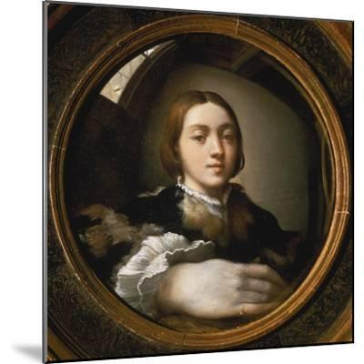 Self-Portrait in a Convex Mirror, 1523/24-Parmigianino-Mounted Giclee Print
