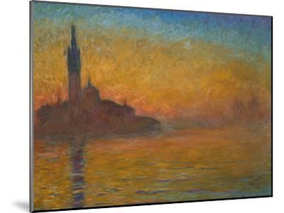 Venice by Twilight, 1908-Claude Monet-Mounted Giclee Print