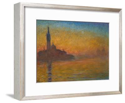 Venice by Twilight, 1908-Claude Monet-Framed Giclee Print