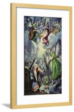 The Annunciation, about 1597/1600-El Greco-Framed Giclee Print