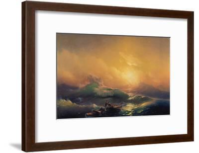 The Wave-Konstantinovich Ivan Aiwassowskij-Framed Giclee Print