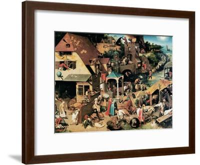 Netherlandish Proverbs, 1559-Pieter Bruegel the Elder-Framed Giclee Print