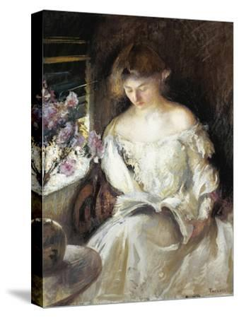 Girl Reading, 1902-Edmund Charles Tarbell-Stretched Canvas Print