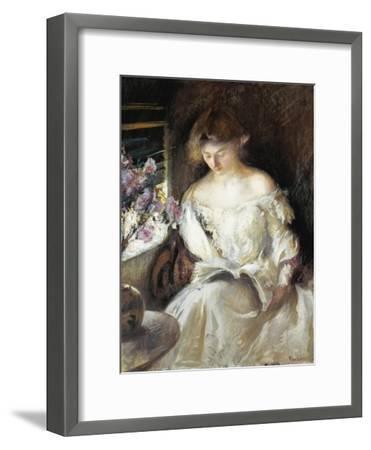 Girl Reading, 1902-Edmund Charles Tarbell-Framed Giclee Print