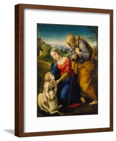 The Holy Family with a Lamb, 1507-Raphael-Framed Giclee Print