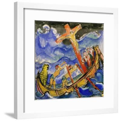 Crusaders in a Storm, 1913-Franz Marc-Framed Giclee Print