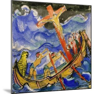 Crusaders in a Storm, 1913-Franz Marc-Mounted Giclee Print