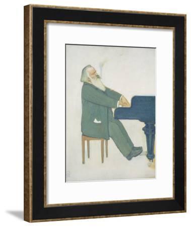 Johannes Brahms at the Piano-Willy von Beckerath-Framed Giclee Print