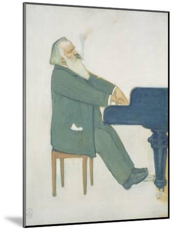 Johannes Brahms at the Piano-Willy von Beckerath-Mounted Giclee Print