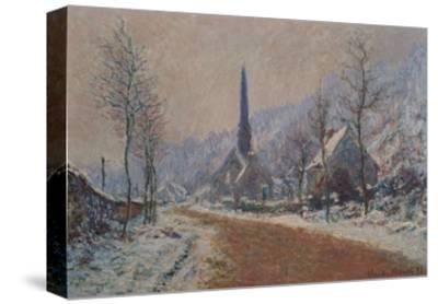 The Church at Jeufosse in Winter-Claude Monet-Stretched Canvas Print