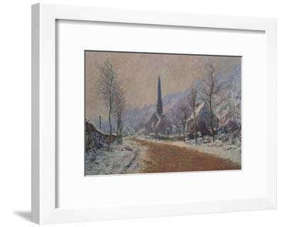 The Church at Jeufosse in Winter-Claude Monet-Framed Giclee Print