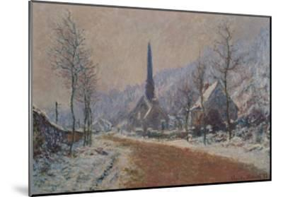 The Church at Jeufosse in Winter-Claude Monet-Mounted Giclee Print