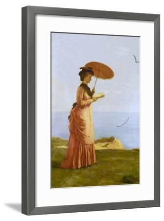 Lady with Parasol Reading, Isle of Wight (Emily Prinsep)-Valentine Cameron Prinsep-Framed Giclee Print