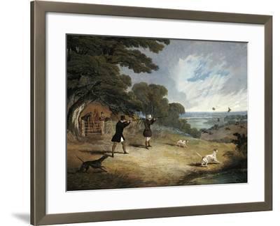Partridge Shooting at Six Mile Bottom, 1833-John Frederick Herring I-Framed Giclee Print