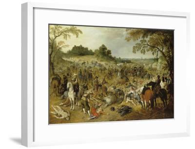 Pluenderung Eines Gepaeckzuges-Sebastian Vrancx-Framed Giclee Print