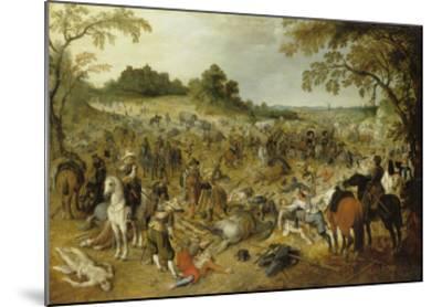 Pluenderung Eines Gepaeckzuges-Sebastian Vrancx-Mounted Giclee Print