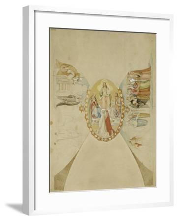 Das Paradies. Entwurf Fuer Das Deckenge- Maelde des Dantezimmers des Casino Massi--Philipp Veit-Framed Giclee Print