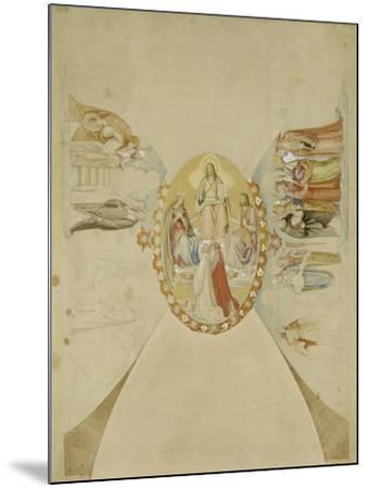 Das Paradies. Entwurf Fuer Das Deckenge- Maelde des Dantezimmers des Casino Massi--Philipp Veit-Mounted Giclee Print