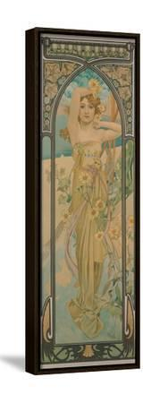 The Times of the Day: Brightness of Day, 1899-Alphonse Mucha-Framed Stretched Canvas Print