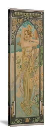 The Times of the Day: Brightness of Day, 1899-Alphonse Mucha-Stretched Canvas Print