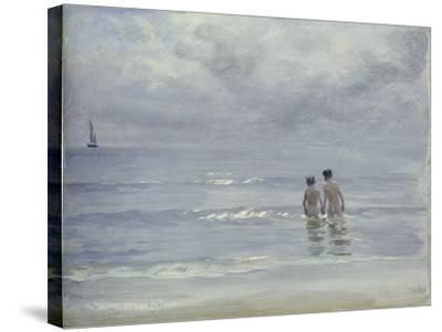 Boys Bathing on the Beach at Skagen, 1899-Peder Severin Kr?yer-Stretched Canvas Print